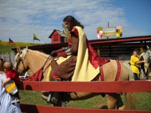 Knight on Horseback in Pittsburgh Renaissance Festival